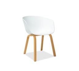 Jídelní židle EGO, bílá/dub