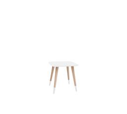 stolek LAWA 011 (TXL011)  bílá/buk přírodní (TX057/TX002)
