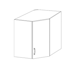 ROYAL  - horní rohová skříňka 60cm G60N