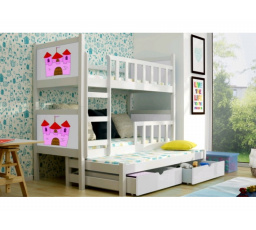Patrová postel PINOKIO 3 - Bílá