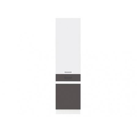 Kuchyňská skříňka Junona Line D2D/50/195 L bílá/bílý lesk, šedý wolfram