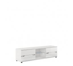 ALASKA AL30 - TV STOLEK  bílá/bílý vysoký lesk MDF  (P9RXAS30) (MM) (K150)
