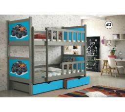 Patrová postel PINOKIO 2 - Grafitová