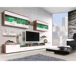 Obývací stěna CAMA I - švestka-bílá