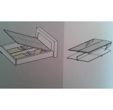 SADA LMBK II 120x200 RM - Kovový rám s lamelami vytvoří ÚP (BRW COMFORT) (FLVIII)