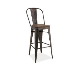 Barová židle LOFT H-1  ořech