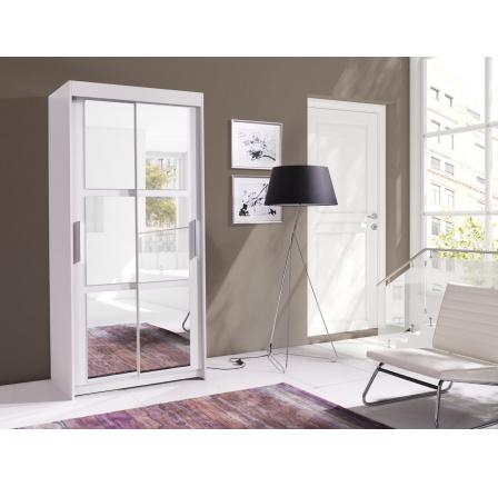Skříň Karo 120 bílá/zrcadlo