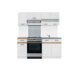 Kuchyň Junona Modul 180, bílá/bílý lesk - SUPERAKCE