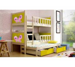 Patrová postel PINOKIO 3 - Borovicová