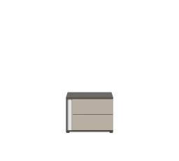 Noční stolek GRAPHIC KOM2SP/A šedý wolfram/popel
