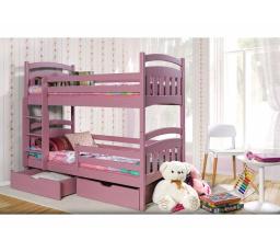 Dětská patrová postel z masivu JAKUB II
