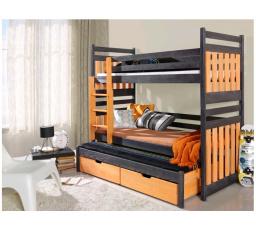 Dětská patrová postel z masivu SAMBOR