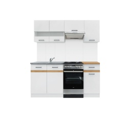 Kuchyň Junona Modul 170, bílá/bílý lesk