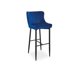Barová židle COLIN B VELVET H-1, modrá
