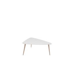 stolek TRIANGO L  bílý/dub sonoma (TX098/TX069)