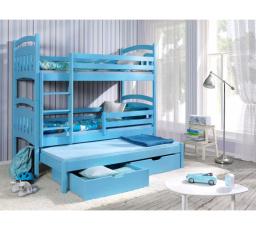 Dětská patrová postel z masivu JAKUB III