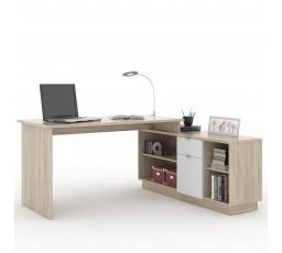 VEGA 02  -počítačový stůl monoblok (VE02)- dub sonoma/bílá (MD) (K150-Z)