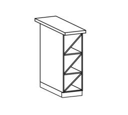 ROYAL  - dolní regál 20cm D20W
