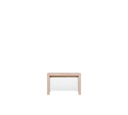 Noční stolek KASPIAN KOM1S dub sonoma/bílá