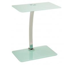 LIFTO ( LIFTOB )  odkládací stolek-sklo bílé (S) (K150-Z)