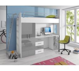 Patrová postel PARADISE 4D-šedá