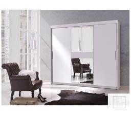 Šatní skříň MORA III - bílá